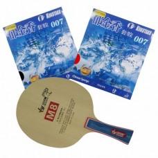 SANWEI ไม้ปิงปองประกอบ M8  พร้อมยางปิงปอง KOKUTAKU 007 Chinese Explosion Sponge , Export Version 2 ด้าน